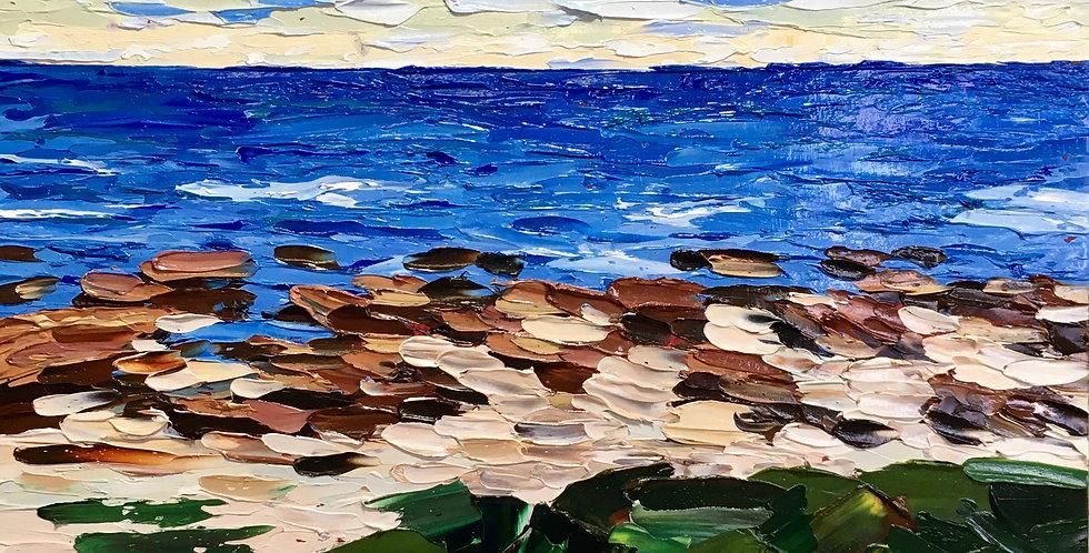 "Pebble Beach, 20""x20"""