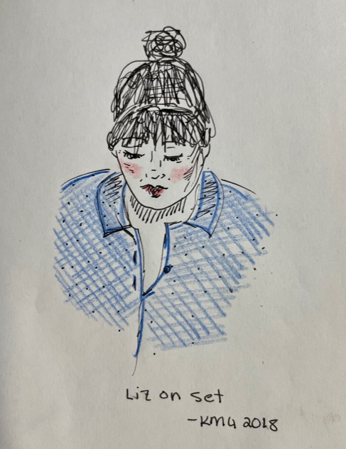Liz on Set, 2018