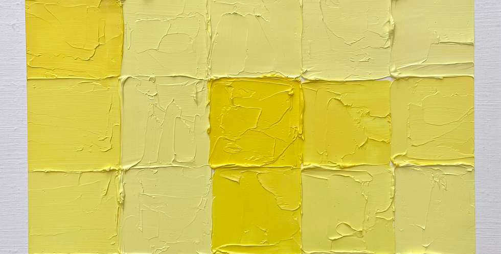 Yellow Grid | 12x12in | Unframed Oil Painting