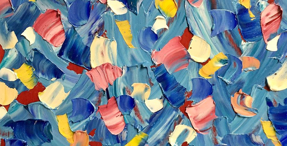 Joy Falls   12x12in   Framed Oil Painting