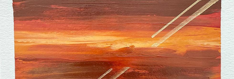 Heaven's Eyes    3.5x7.5in   Unframed Oil Painting