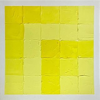 "Patchwork   Yellow, 12""x12"""
