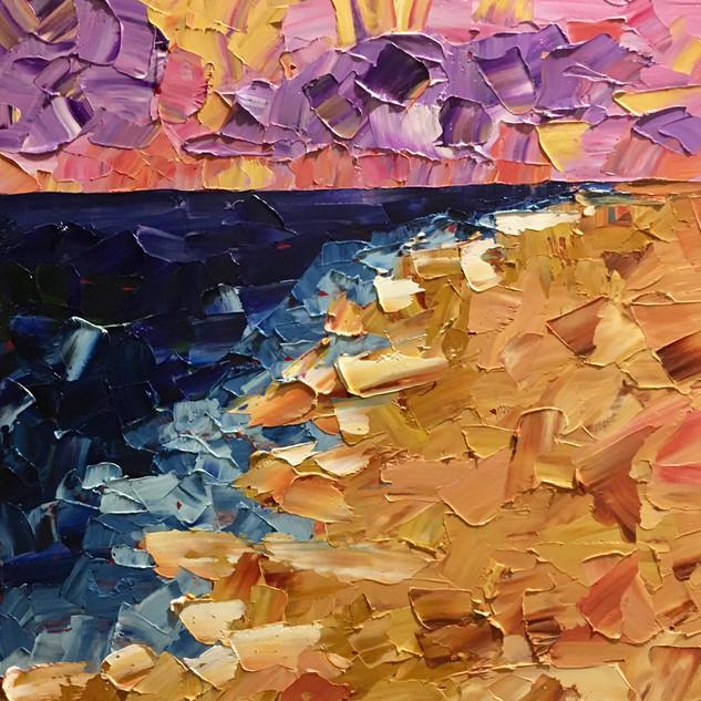 "Purple Sunset, 12""x12"""