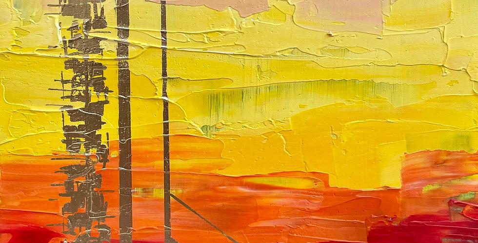 Sunset Gleam   6x6in   Unframed Oil Painting