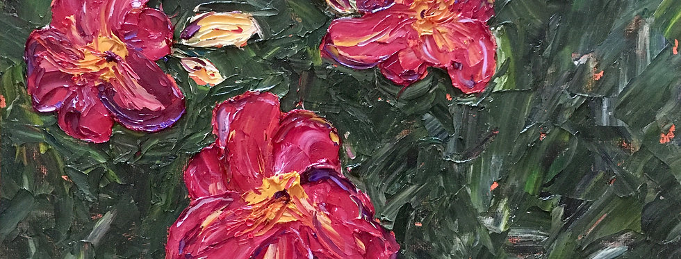 """Red Lilies, 14""""x11"""""""