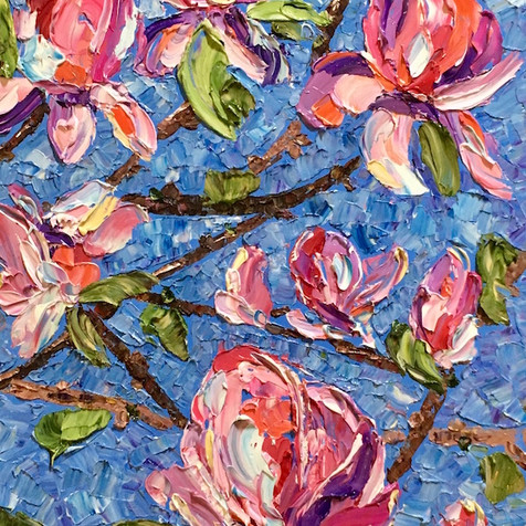 """Magnolias, 24""""x12"""""""
