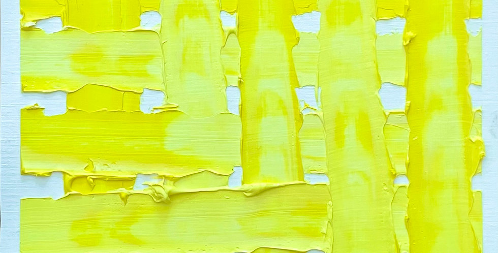 Loose Weave Yellow | 9x9in | Unframed Oil Painting