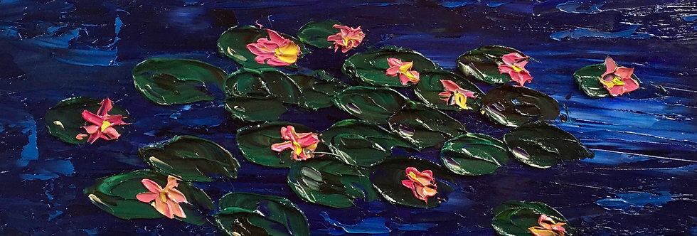 Lilypads | 6x12in | Framed Oil Painting