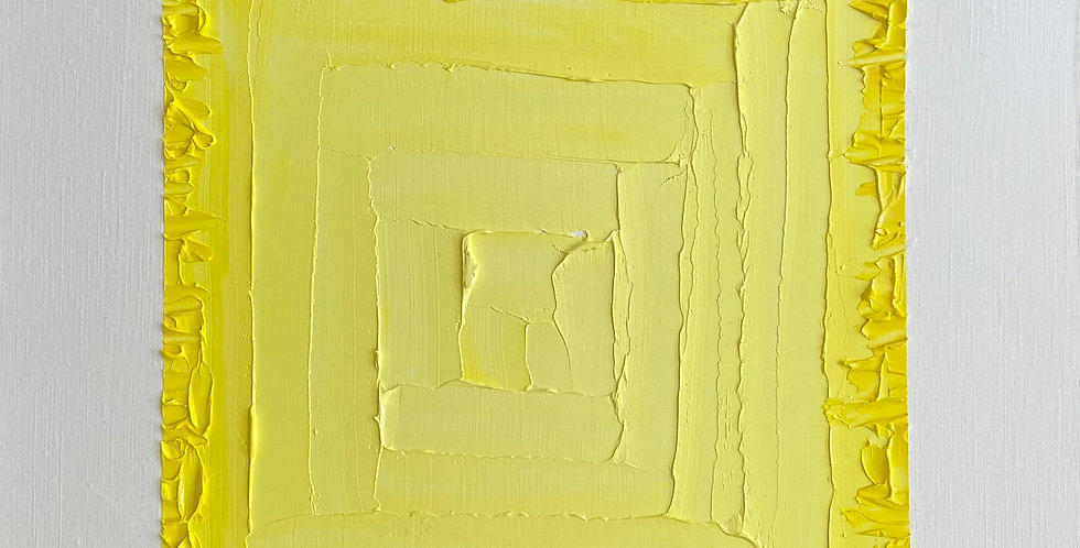 Yellow Deep Cut | 12x12in | Unframed Oil Painting