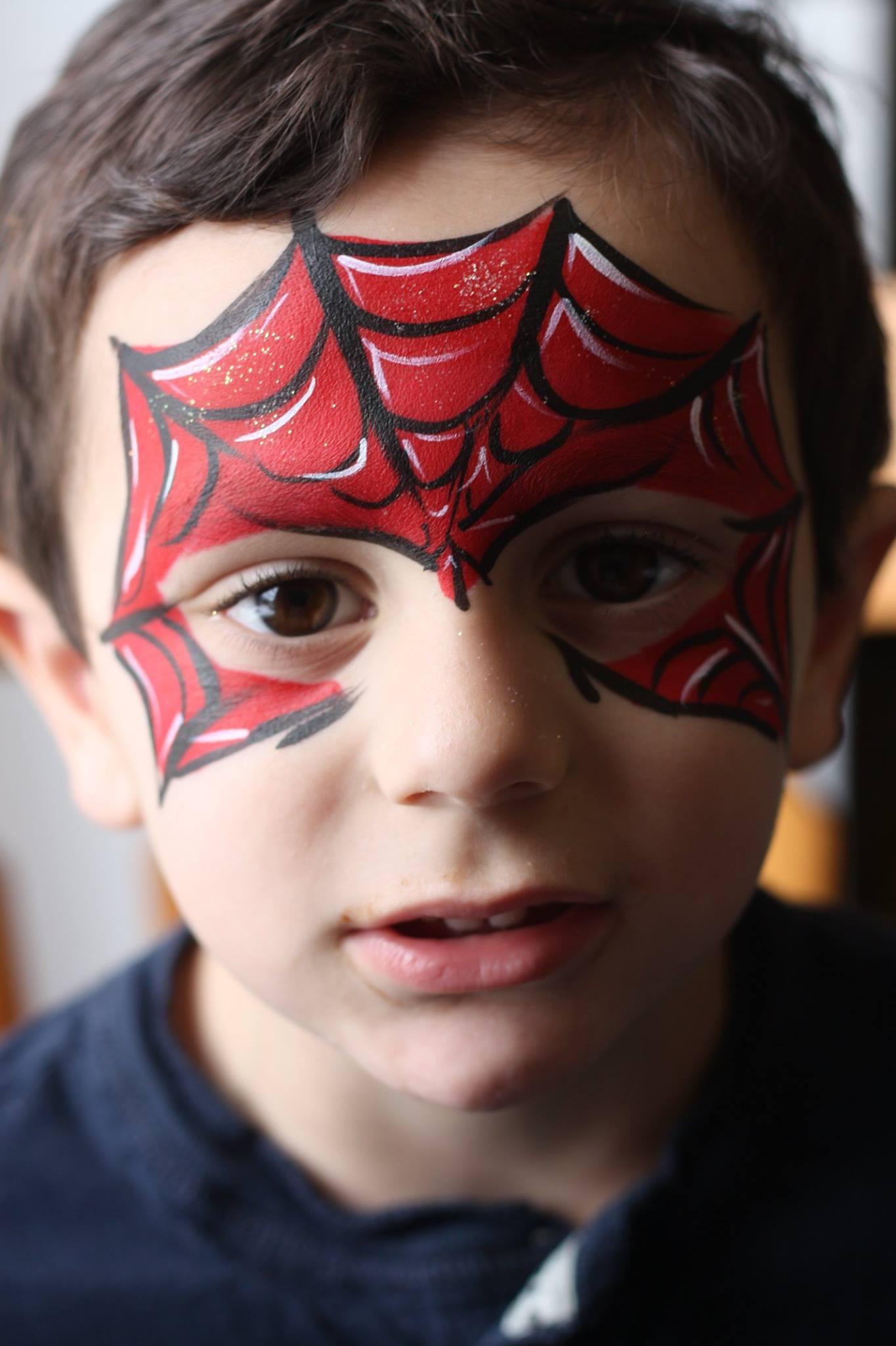 Spiderman makeup