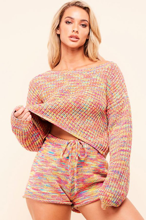 Sabrina Cropped Quilted Sweater