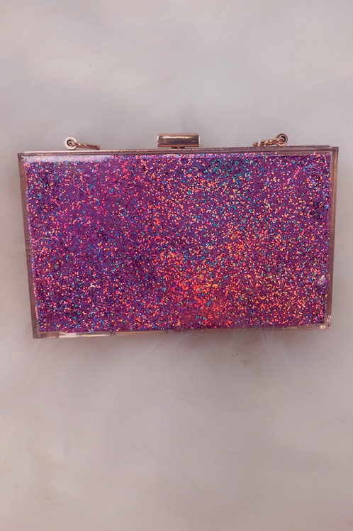 Luna Pink Glitter Purse