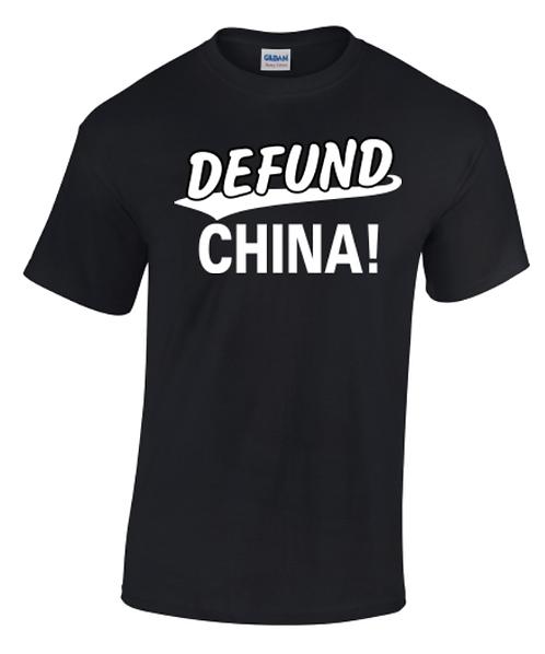 Defund China Crew Neck T-Shirt
