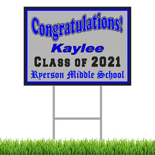 "Ryerson 2021 Graduation Yard Signs 12"" X 18"""