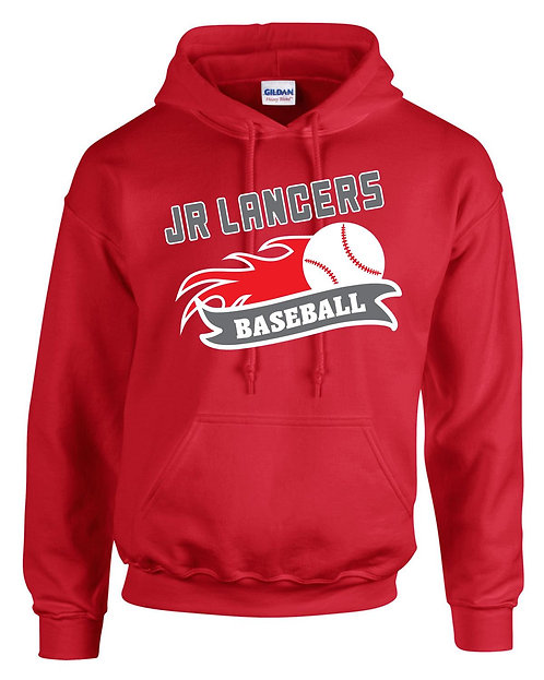 Cotton Red Hoodie