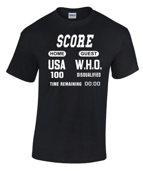 USA vs W.H.O. Crew Neck T-Shirt