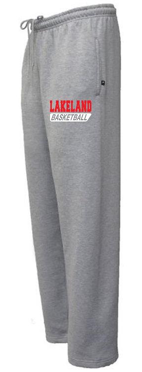 Gray Open Bottom Sweatpants