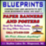 Blueprint copies and paper banners