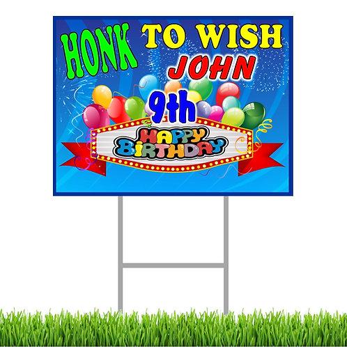 Happy Birthday Honk Yard Sign