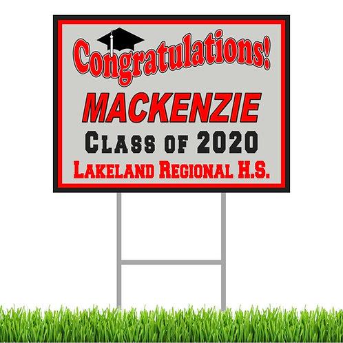 Lakeland Graduation Yard Sign