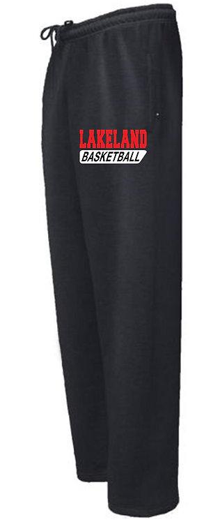 Black Open Bottom Sweatpants