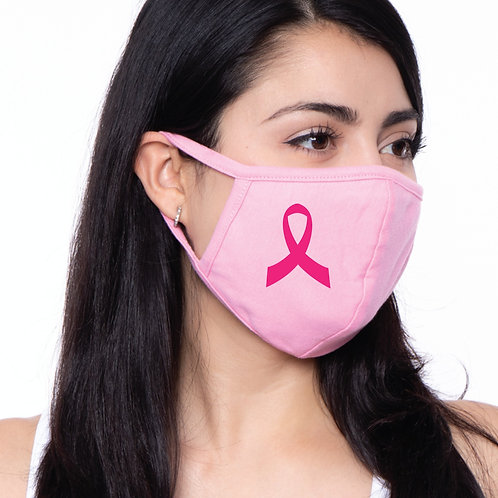 Pink Face Mask with Ribbon