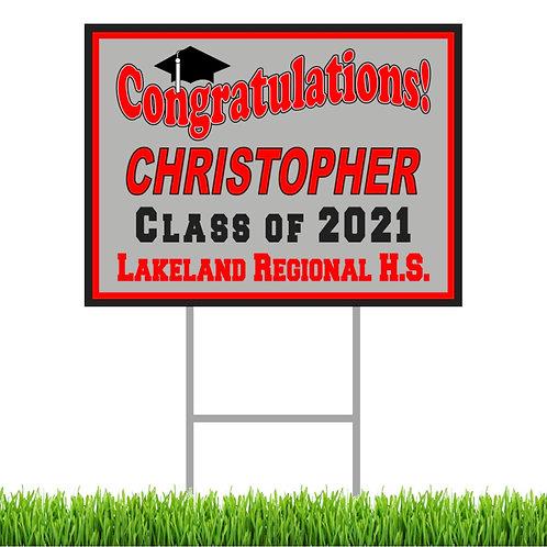 Personalized Graduation Yard Sign