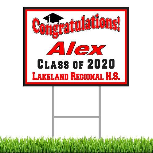 College Graduation Yard Sign
