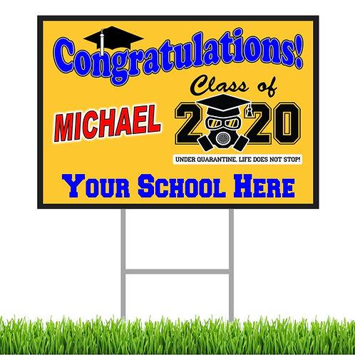 X Large COVID 2020 Grad. Signs