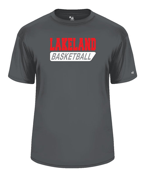 Mens Graphite Short Sleeve Dri-fit