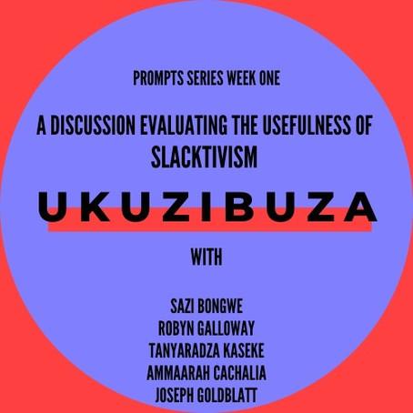Prompt Series- Live Discussion 1: Slacktivism
