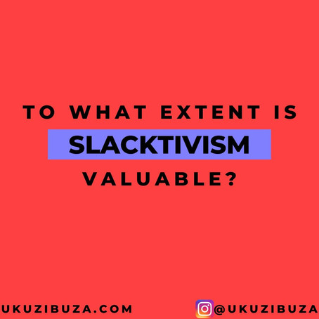 Prompt Series- Week one: Slacktivism