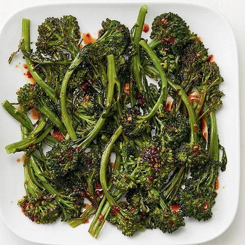Cast Iron Chili-Lemon Broccolini