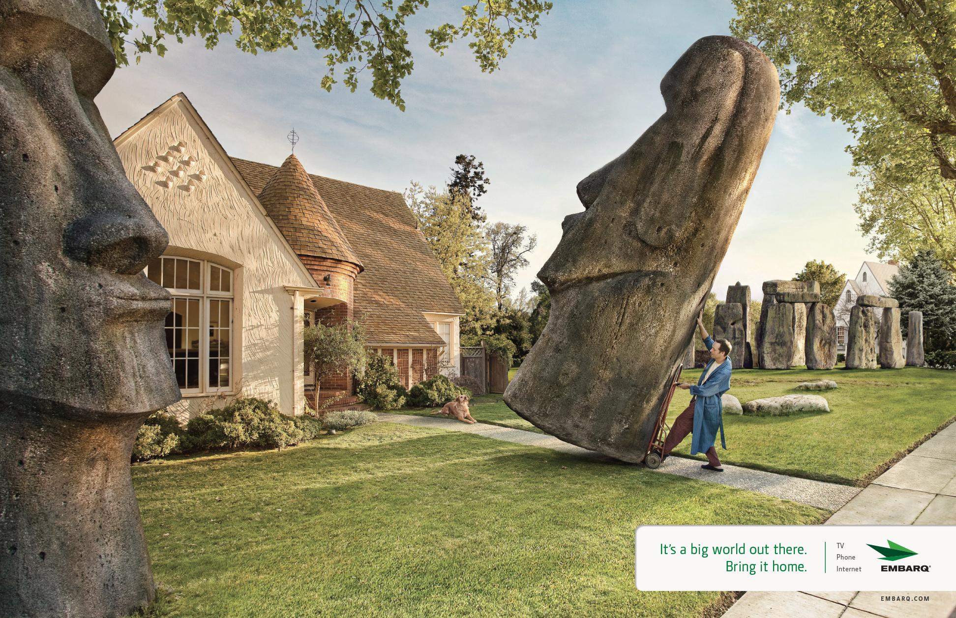 Easter Island Yard Gnomes