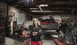 Jessi Combs Longbeach Garage