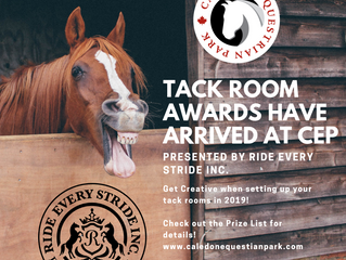 Tack Room Decorating Awards Have Arrived at CEP!