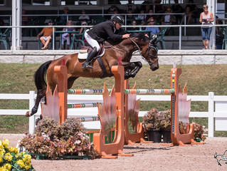 Hugh Graham and Kim Farlinger battle it out in the $20,000 Grand Prix during last week's Caledon