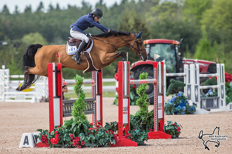 Conor Swail and Cita in the $50,000 FEI Jumper Classic presented by CASE IH.  Photo Courtesy of Ben Radvanyi Photography.