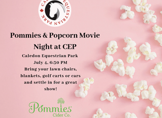 Pommie and Popcorn is coming to CEP July 4!