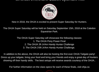 Save the Date for the OHJA Saturday Tailgate Party, Sept 15, 2018!