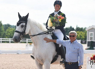 Jacqueline Brooks and Goose celebrated during CDI3* Salute to Dressage at CEP