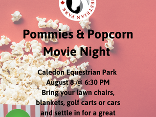We'll do it again on August 8 @ 6:30pm - Pommies & Popcorn Movie Night