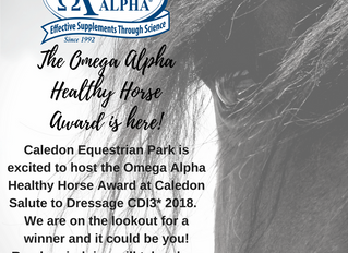 The Omega Alpha Healthy Horse Award is Here!