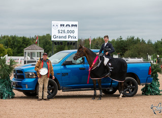Sam Walker and Carlie Fairty impress at Caledon Equestrian Park's Autumn Classic