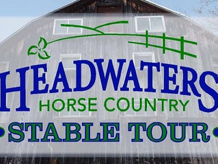 Headwaters Horse Country Stable Tour-The 2016 Stable Tour will take place October 1 & 2!