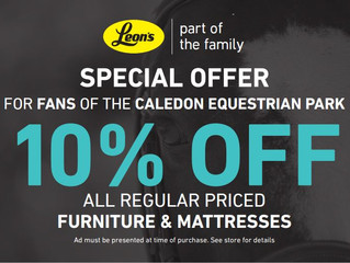 Great news for the Fans of the Caledon Equestrian Park!