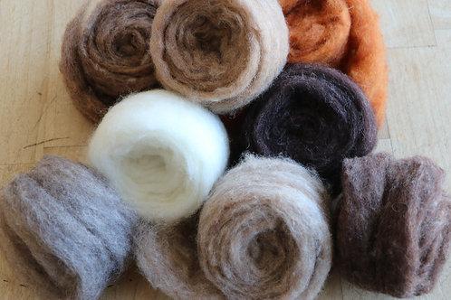 Wildlife Corriedale Felting Wool