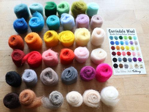 Corriedale Felting Colour Pack