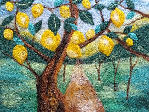 Lemons Felted Picture Kit