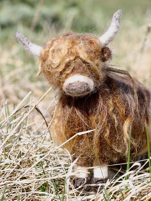 Felted Highland Cow (Finished)